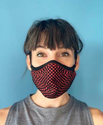 henjl masques dt100 noirrouge mixte